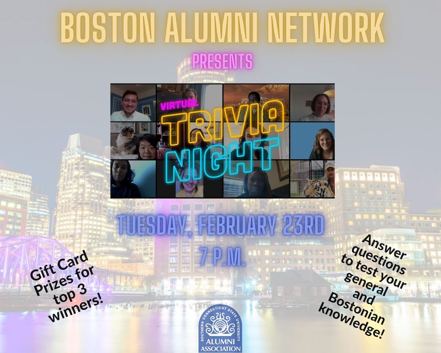 Boston Alumni Network Presents Virtual Trivia Night, Tuesday, January 26th, 7PM
