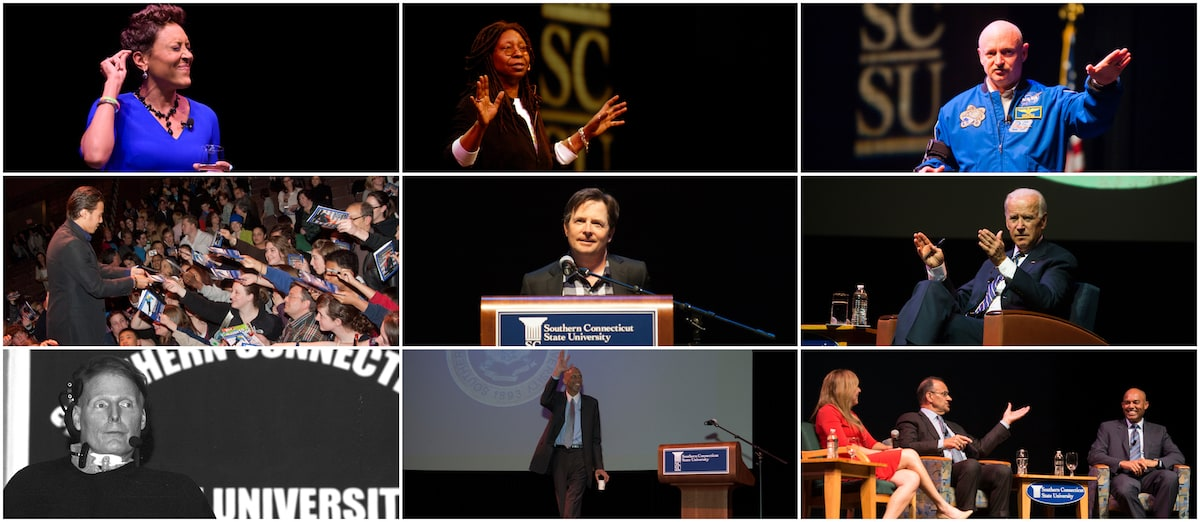 Collage of Distinguished Lecture Series pervious speakers