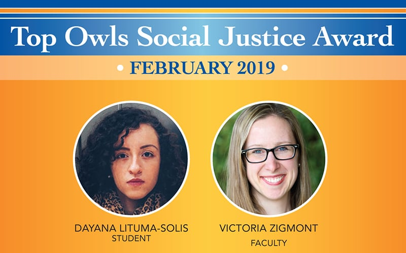 Top Owls Social Justice Award