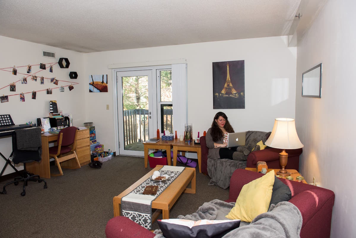 North Campus Townhouse living room