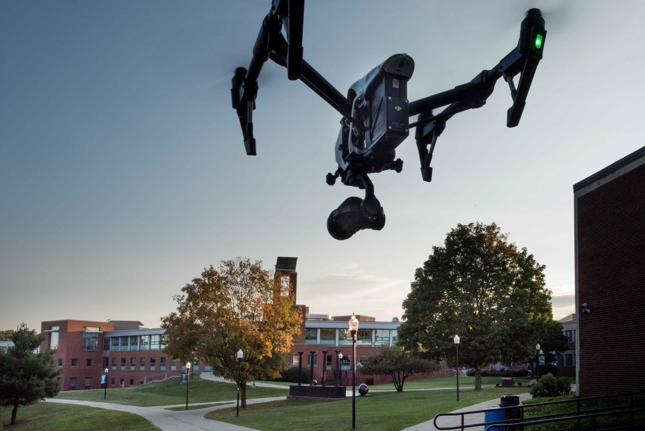 Drone over SCSU