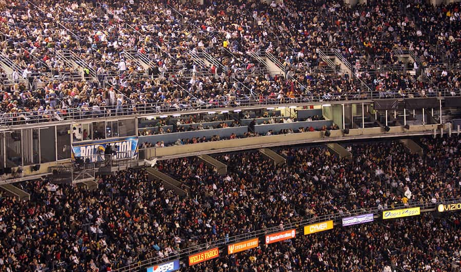 photo of a stadium full of people