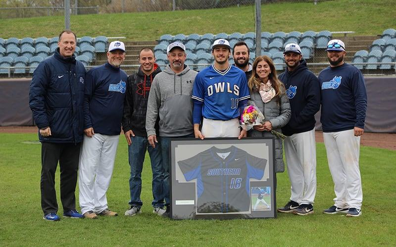 Senior baseball captain Tyler Criscuolo and his family