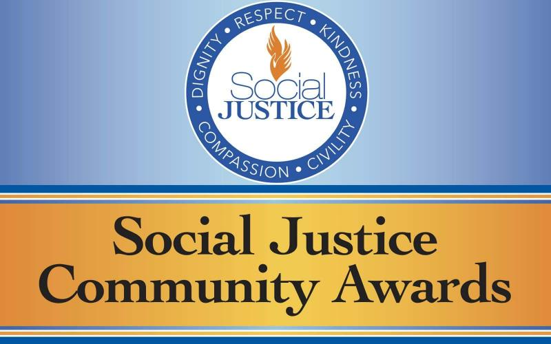 graphic announcing the social justice community awards
