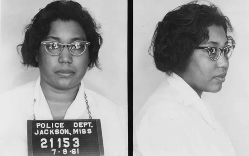 Freedom Rider Lula Mae White's mugshots from 1961
