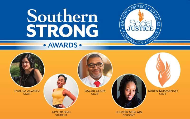 graphic with SouthernStrong Awardees' portraits