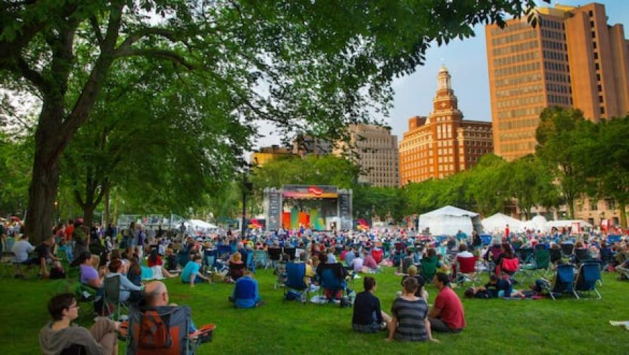 Music festival at the New Haven Green