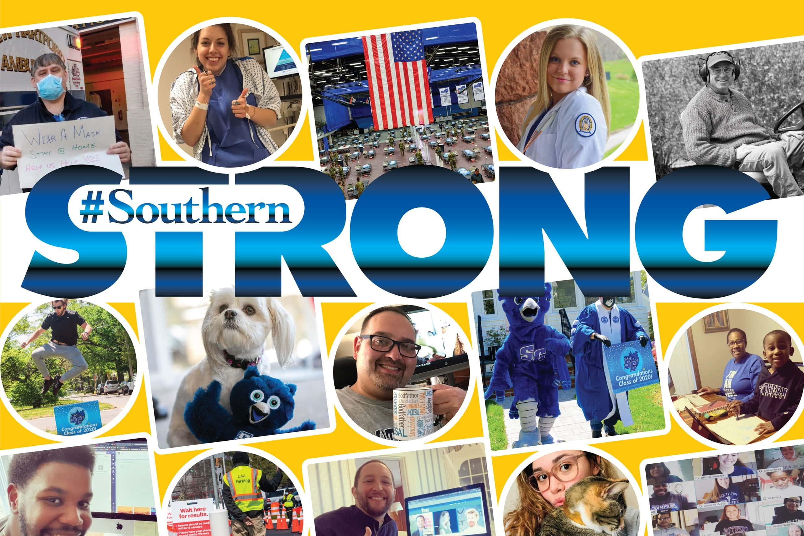 collage of images from the #SouthernStrong hashtag