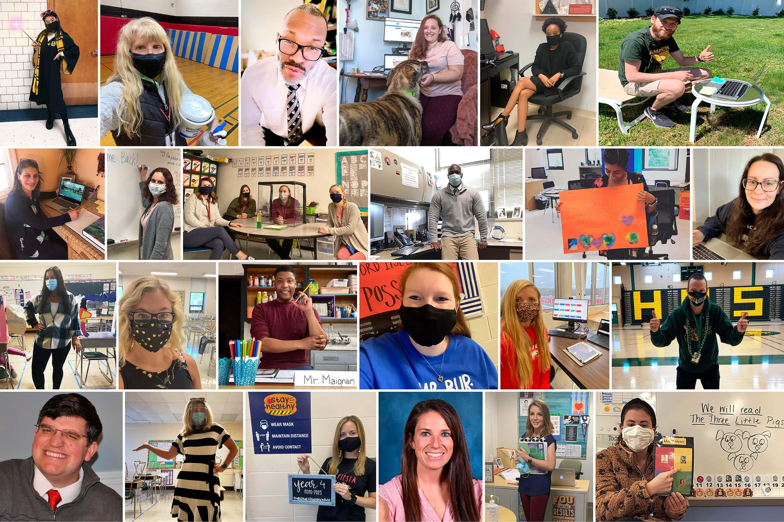 a grid of photos of Southern alums who are educators